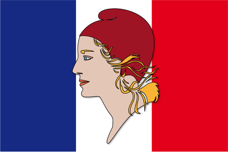 Marrianne and flag, symbols france