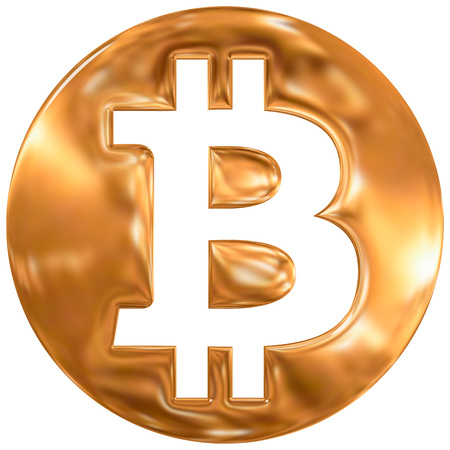 current account: Bitcoin virtual currency symbol, gold finishing
