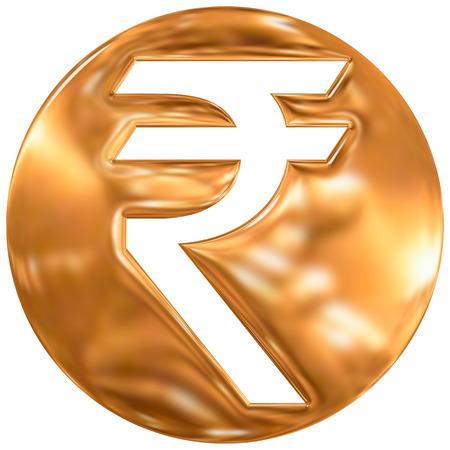 emerging economy: Indian rupee currency symbol, india, gold finishing