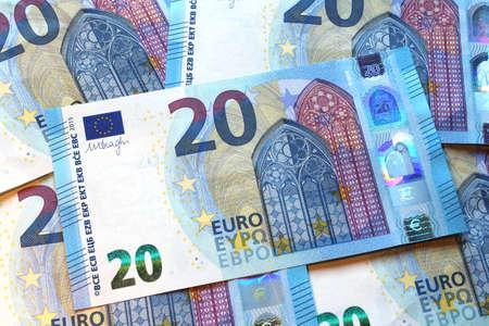 twenty euro banknote: twenty euro banknote, new design Stock Photo