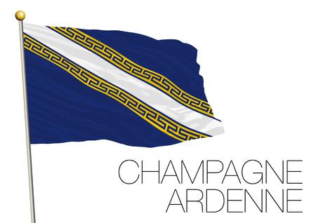 toulon: champagne ardenne regional flag, france