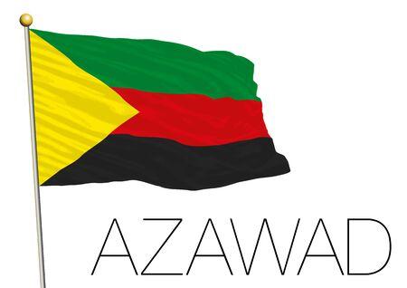 liberation: Azawad flag, africa Illustration