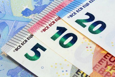 forge: euro banknotes detail, new design Stock Photo