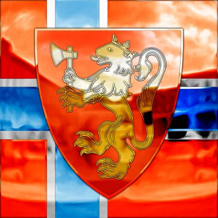 nobel: Norvay coat of arms and flag, graphic elaboration