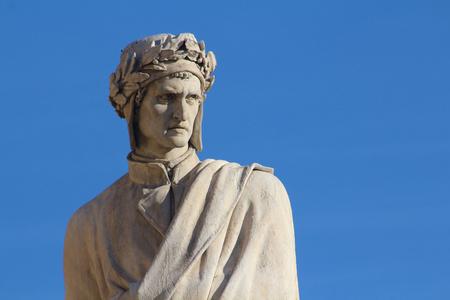 dante alighieri: Dante Alighieri monument detail, Florence, Italy