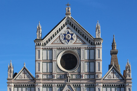 florence   italy: Santa Croce cathedral, florence, italy