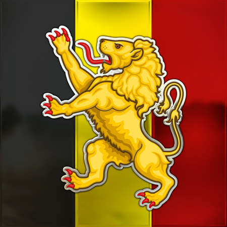 walloon: belgium flag and lion symbol