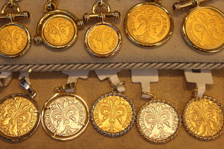 Florence, old florin coin imitation, jewelry