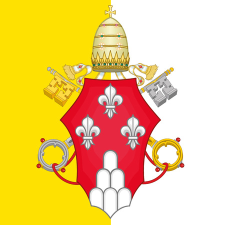 Pope Paul VI coat of arms Illustration