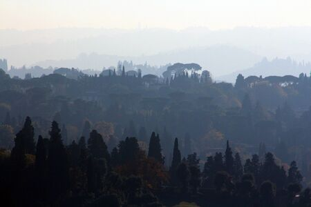 michelangelo: Tuscany, Italy, landscape