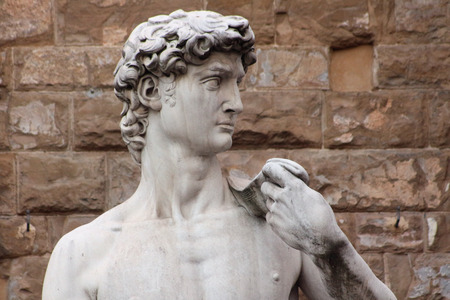 Florence, Italy, David of Michelangelo detail