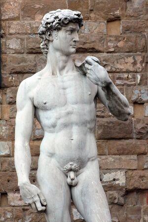 michelangelo: David detail of Michelangelo, Florence, Italy