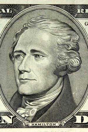 alexander hamilton: STATI UNITI D'AMERICA - ritratto di Alexander Hamilton, incisione dal dollaro banconota Archivio Fotografico