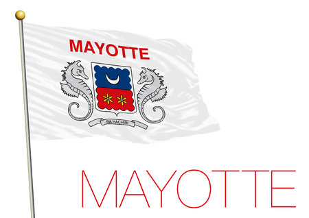 mayotte: mayotte flag, france Stock Photo