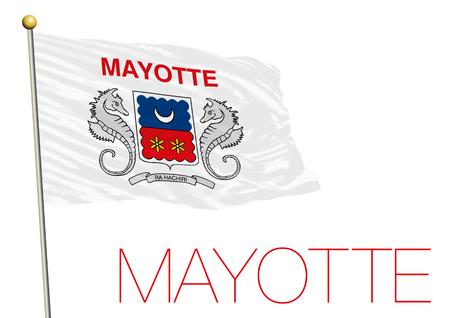 mayotte: mayotte flag, france Stock Photo