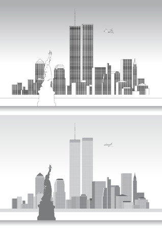 new york skyline: WTC World Trade Center, september eleven, new york skyline