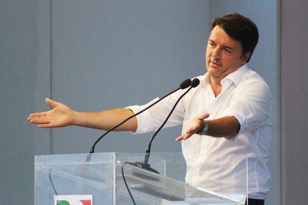 politic: MODENA, Italy, SEPTEMBER, 2016: Matteo Renzi, public politic conference Democratic Party Convention Editorial