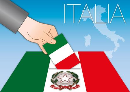 leonardo da vinci: Italy, Republic of Italy, coat of arms and flag Illustration