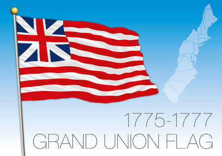 first house: Historical Grand Union flag, United States 1775-1777