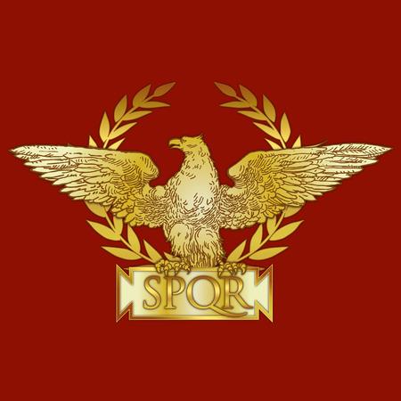 Cesarstwa Rzymskiego herbu Ilustracje wektorowe