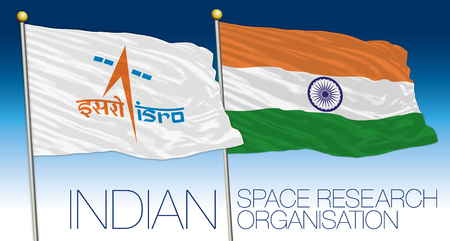Indian Space Research Organisation flags