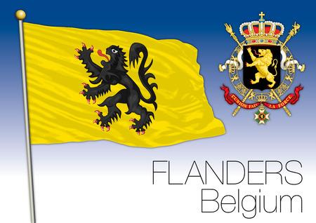 Flanders regional flag, Belgium Illustration