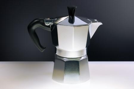 Moka cofee machine, still life, italy