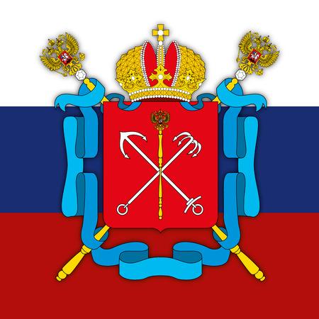Saint Petersburg city coat of arms, Russia Illustration