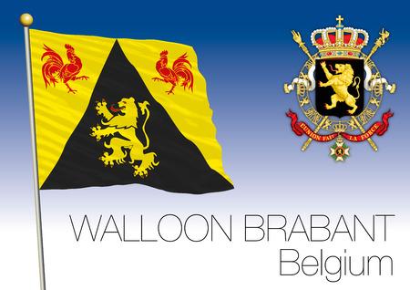 walloon: Walloon Brabant regional flag, Belgium