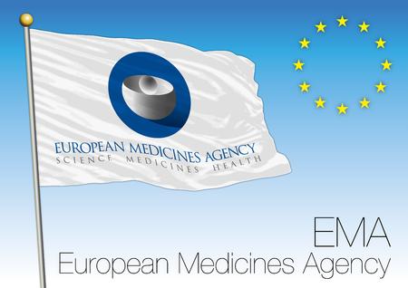 EMA, le drapeau de l'Agence européenne du médicament