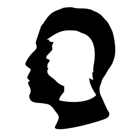 presidential: Donald Trump and barack Obama silhouettes