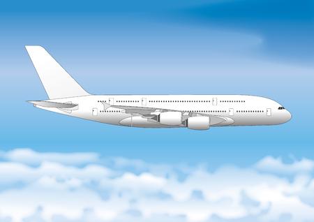 Linea passeggeri di linea aerea, file vettoriali, illustrazione Archivio Fotografico - 77007479