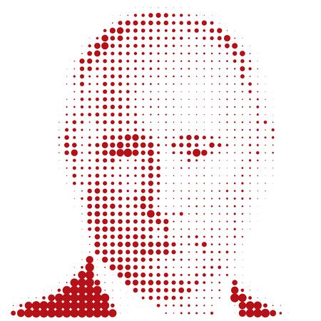 Vladimir Putin portrait, graphic elaboration