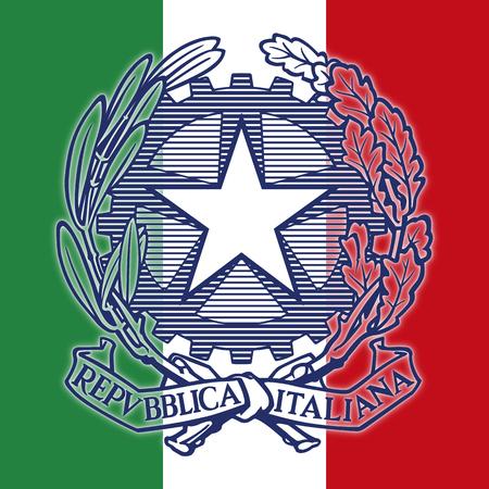leonardo da vinci: Italy, Italian Republic coat of arms