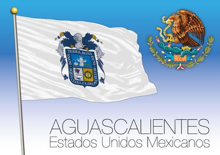 メキシコ合衆国、メキシコ、アグアスカリエンテス地域フラグ 写真素材 - 77920269