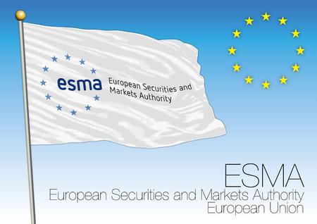 security council: ESMA flag, European Securities and Markets Authority, European Union