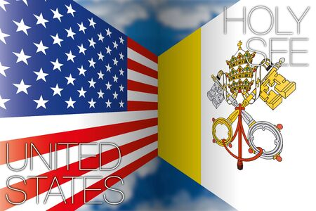 Holy See and United States flags