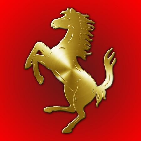 formula one: MARANELLO, MODENA, ITALY, YEAR 2017 - Horse symbol of Ferrari cars, Italy