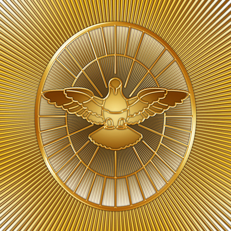 humility: Holy Spirit symbol, Saint Peter, Rome, graphic design, illustration Stock Photo