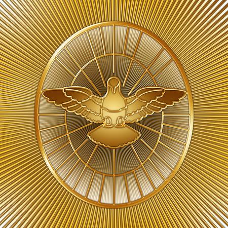 Holy Spirit symbol, Saint Peter, Rome, graphic design, illustration Stock Photo