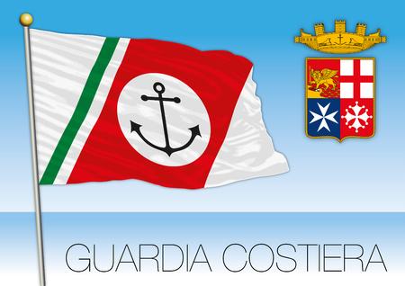 milánó: Italian Coast Guard flag and coat of arms, Italian Navy