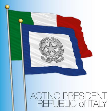 イタリア共和国上院フラグ、イタリア、演技部長