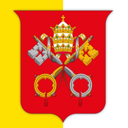 Vatican City coat of arms on flag