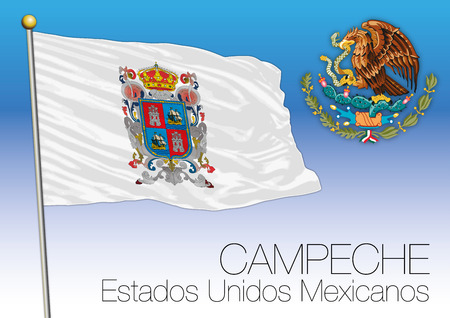 Campeche regional flag illustration. Illustration