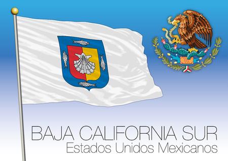 Bandera Regional de Baja California Sur, Estados Unidos Mexicanos, México