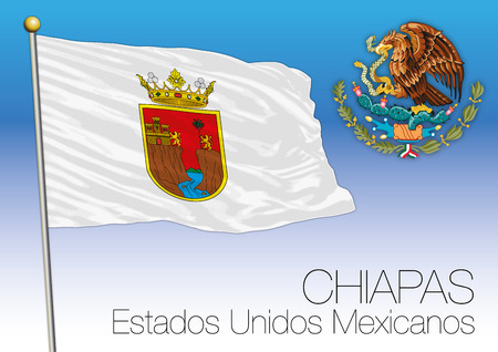 メキシコ合衆国、メキシコ、チアパス地方フラグ 写真素材 - 84059395