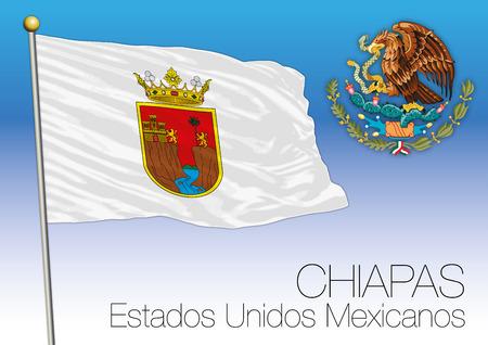 Chiapas regional flag, United Mexican States, Mexico