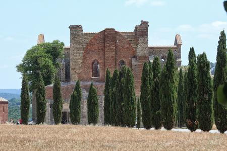 San Galgano Abbey, Tuscany, Italy, touristic place Editorial
