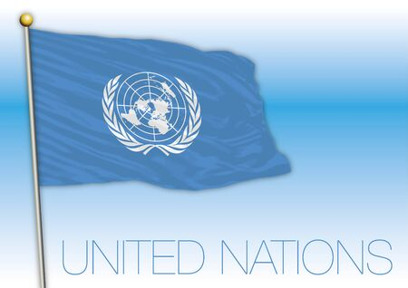 United Nations flag, vector file, illustration