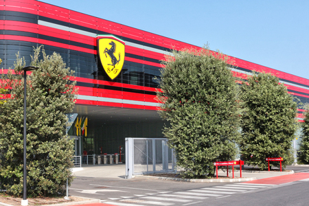 MARANELLO, MODENA, ITALY, YEAR 2017 - Ferrari Factory, the entrance of the new industrial establishment